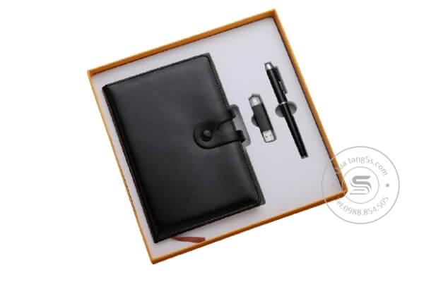 Bộ Quà Tặng Giftset Sổ Da – Bút Bi – USB