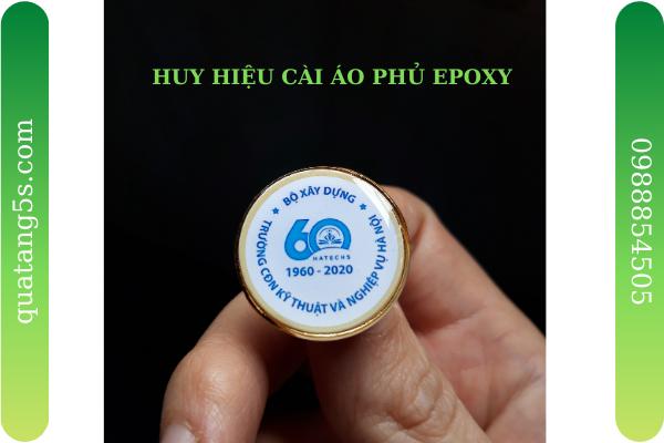 Huy Hiệu Cài Áo In Logo Phủ Epoxy