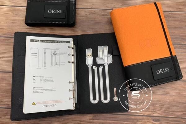 Sổ Đa Năng A6 – Sổ Da Kèm Pin Sạc Dự Phòng Và USB