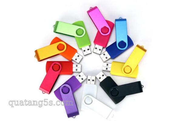 Quà Tặng Doanh Nghiệp USB Kim Loại Xoay In Logo